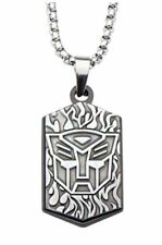 Hasbro Transformers Stainless Steel Autobot Pendant Necklace with Steel Chain