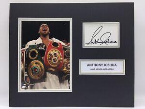 RARE Anthony Joshua Boxing Signed Photo Display + COA AUTOGRAPH AJ FURY