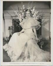 Joan Bennett wears gown by Yvonne Caret Original Vintage fashion photo 1935