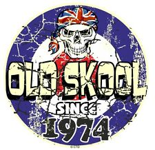 Distressed Aged OLD SKOOL Since 1974 Mod Style Target Motorcycle car sticke8