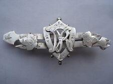 1837-1897 VICTORIAS DIAMOND JUBILEE SILVER SOUVENIR PIN BROOCH