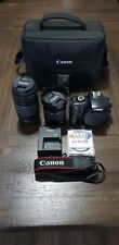 Canon EOS Rebel T3 12.2MP Digital SLR Camera - Kit with extras Used