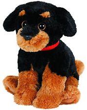 "TY 10"" Medium Brutus Dog w/ Red Collar Beanie Buddy Baby Plush w/ Ty Heart Tags"