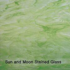 Spectrum Stained Glass Sheet S325-2 - White / Light Green