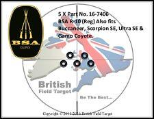 5 X BSA R-10 (Reg) Buccaneer, Scorpion SE, Ultra SE & Gamo Coyote PN- 16-7406
