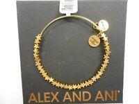 Alex and Ani STAR Beaded Bracelet Rafaelian Gold Tag Box Card