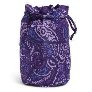 NWT Vera Bradley Factory Style Ditty Bag Paisley Amethyst MSRP $29