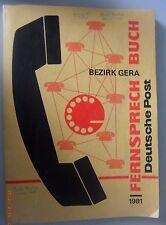Fernsprechbuch Bezirk Gera 1981 Berga Elsterberg Greiz Kahla Orlamünde Saalfeld