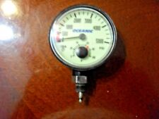 Oceanic 5,000 PSI 2 function gauge with Temp, HP Hose & spool