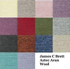 James C Brett Aran Knitting Wool Yarn Aztec Alpaca Wool 100g Balls 14+ Colours