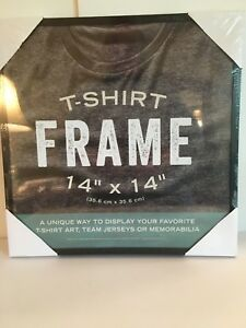 LARGE T Tee Shirt Frame 14 x 14 Black Art Team Jersey memorabilia Sealed NEW