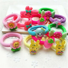 10Pcs Cartoon Candy Color Hair Band Headwear Kids Girl Hair Accessoriess Gift Kw