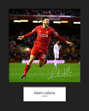 ADAM LALLANA - LIVERPOOL Signed 10x8 Mounted Photo Print - FREE DEL