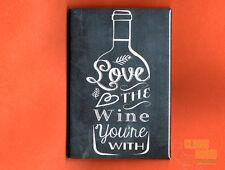"""Wine Lovers 2x3"""" fridge/locker magnet chalkboard look"""