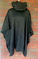 Harmal New York Cape Poncho One Size Fits All Black Cowl Neck Jacket Cloak Parka
