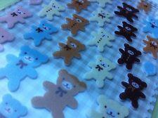 Korean 3D Dimensional Felt Fuzzy Funny Sticker World Baby Teddy Bear