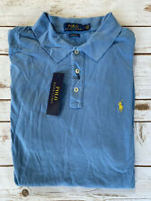 New listing Polo Ralph Lauren Classic Fit Jersey Rugby Polo Shirt Glory Blue Mens Medium New