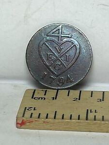 British India East India Company Copper 2 Pice 1794