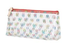 Dooney & Bourke On the Go Cosmetic Case make up CLEAR signature colorful DBs-New