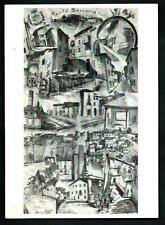 Montù Beccaria ( Pavia ) : disegno di A. Bazardi - cartolina viaggiata nel 1966