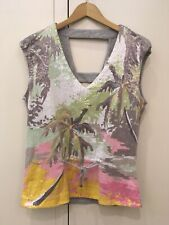 Sequin Top Size 10 From Next Grey And Pink With Palm Tree Motif