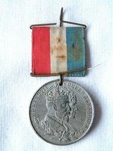ROYALTY - KING EDWARD VII CORONATION 1902 - BOROUGH OF HAYWOOD MEDAL POPPLE MAYO