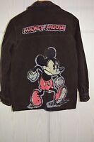 Vintage 80s Mad Mickey Mouse Corduroy Jacket Coat Sz S Kurt Cobain Style Grunge
