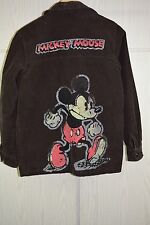 Vtg 80s Rare Mad Mickey Mouse Corduroy Jacket Sport Coat Sz S/M 40/42R Brown