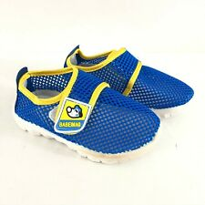 Babeimao Boys Water Shoes Mesh Lightweight Blue Yellow Size 30 US 12
