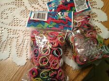 Rainbow Loom Latex Free Rubber Band Refill + C-clips  set of two multi colored