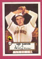1952 Topps Reprint # 212 Ned Garver - St. Louis Browns