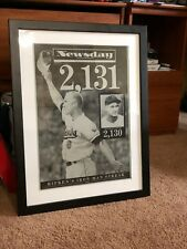 CAL RIPKEN Newsday Long Island, NY printing plate 2131 game streak 9/7/95 Gehrig