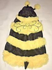 Bumble Bee Dog Halloween Costume Size Large Yellow Black Top Paw