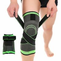hot 3D Weaving Knee Brace Pad Support Protect Compression Running Jogging Sport