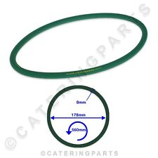 More details for pizza group 5070080 green drive belt roller 178x560x8mm pizza dough stretcher