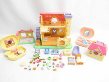 Epoch Hamtaro Dollhouse Playset Lot-Added Hamsters