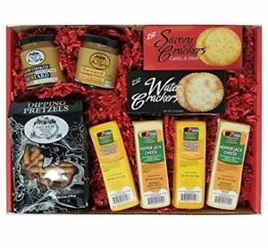Wisconsin Cheese Company Deluxe Cheese and Crackers Gift Basket