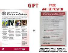 HSE Health And Safety Law Poster A3 - Latest Version Laminated 350 GSM Thickness