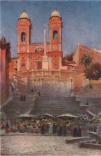 ROME. Chiesa della santissima Trinita dei Monti, by William Wiehe Collins 1911