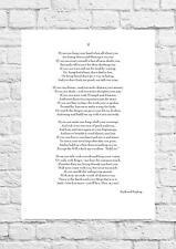 Rudyard Kipling - If - Inspiring Poem - A4 Size