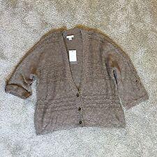 NWT J. Jill Cotton Blend Button Down 3/4 Sleeve Cardigan Sweater Large Petite