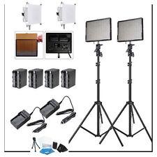 Aputure 2x AL-528C CRI95+ LED Video Light Kit +2x Light Stand +Battery AL528C ++