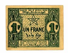 Morocco ... P-42 ... 1 Francs ... 1944 ... *AU-UNC*