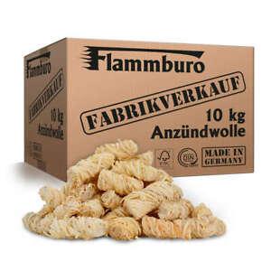 10kg Öko Grillanzünder, Kaminanzünder, Anzündwolle, Holzwolle - DIN zertifiziert