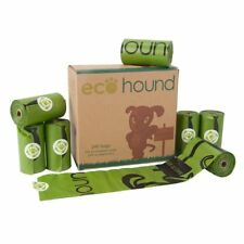 ECOHOUND DOG POO BAGS ON A ROLL - DOG WASTE POOP BAGS (NO HANDLES)