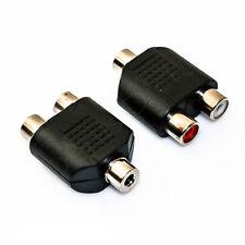 Y Cinch Adapter 2 Chinch rot weiß auf 1 Kopfhörer Klinke Buchse weiblich 3,5mm