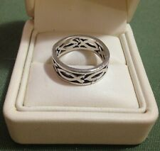 OLD PAWN STERLING SILVER RING - SIZE P (7.75)