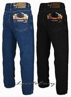 Men's Heavy Duty Classic Fit Basic Cotton Rich Regular Straight Leg Denim Jeans.