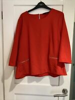 Ladies Orange New Look Top Size 18 New Without Tags