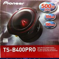 "New Pioneer TSB400PRO 4"" High Efficiency PRO Series Bullet Car Tweeter Low $"